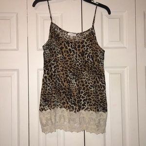 Sleeveless cheetah print top